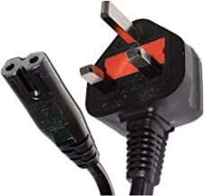 Pro Elec 5 m UK Plug Power Cord to Figure 8 C7 Lead Cable - Black