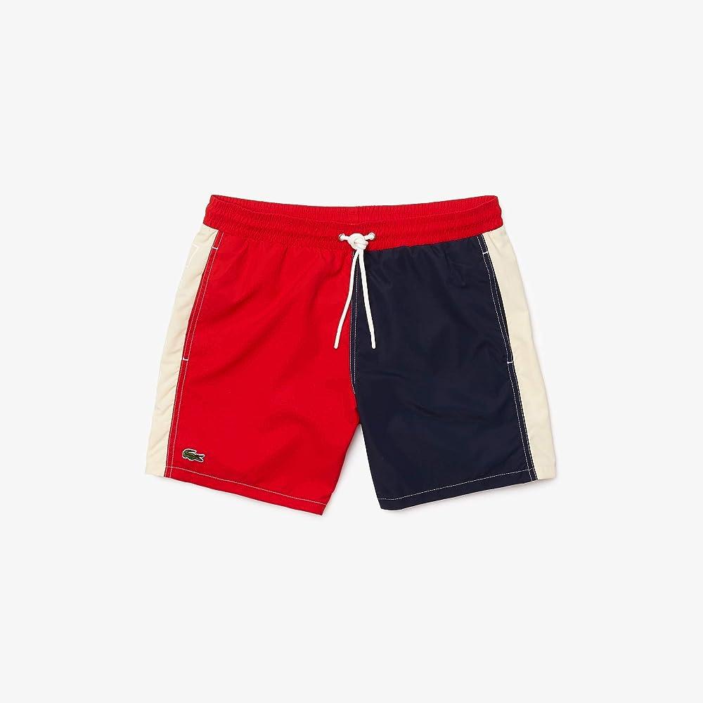 Lacoste, costume da bagno a pantaloncino per  uomo,100 % poliestere MH9390
