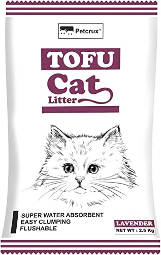 Petcrux Tofu Cat Litter Natural Cat Litter Flushable Cat Litter Clumping Plant Cat Litter Ultra Odor Control Cat Litt...