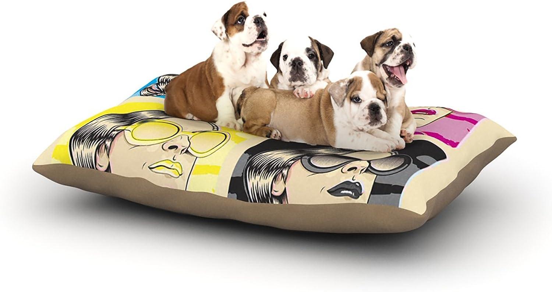 Kess InHouse Roberlan CMYK Fashion  Pop Art Dog Bed, 30 by 40Inch