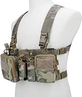 Huenco Tactical Assault Chest Rig 500D Molle Multicam Tactical Vest with Multi-Pockets