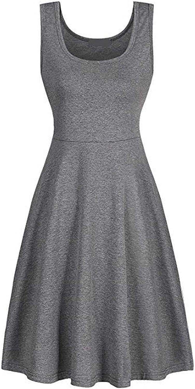 LINGERY Outdoor Clothing,U-Neck Cotton Dress Women's Vest Skirt