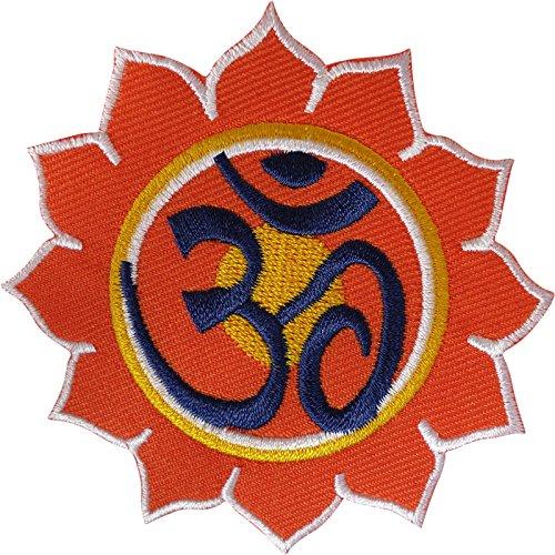 Om Patch - Parche bordado para planchar y coser con símbolo Aum