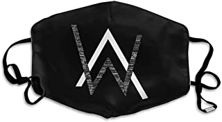 AOOIUU Alan Walker Logo Custom Mouth Mask Anti-Dust Face Mask with Ajustable Earloop Breathable Outdoor Face Mask for Men Woman
