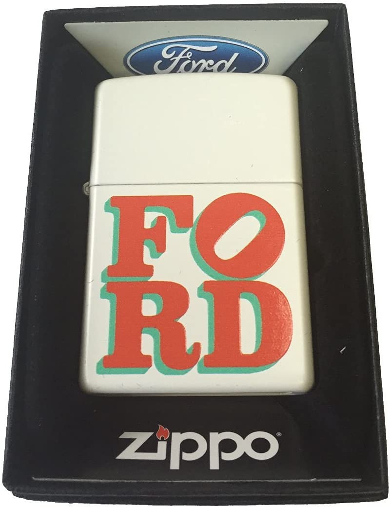 Zippo Custom Lighter - Ford Motors White Red Popular products Car 2021new shipping free shipping Logo Name Green