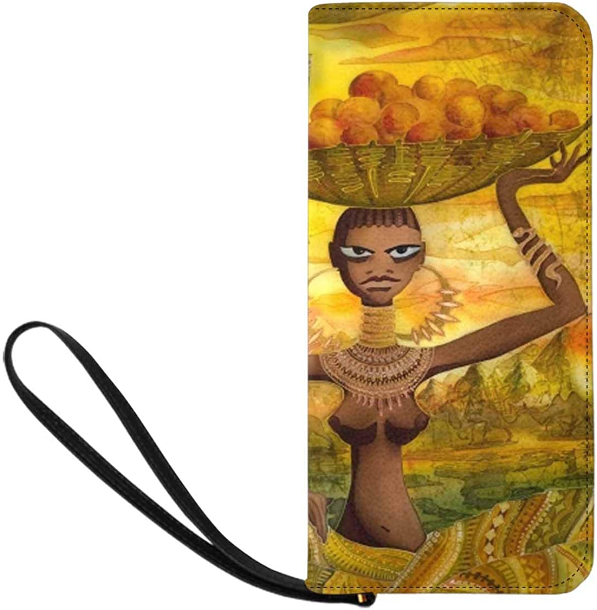 InterestPrint Modern Fashion Beautiful Woman Womens Clutch Wallet Large Wristlet Zipper Clutch Large Travel Purse