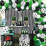APERIL Globos Verde Blancos Negros Fútbol Globo Kit de Guirnalda 94 Globos Arco Globos de Helio para 1 Año Selva Fiestas de cumpleaños Niño Baby Shower Aniversario Decoración de Boda Globos Comunion