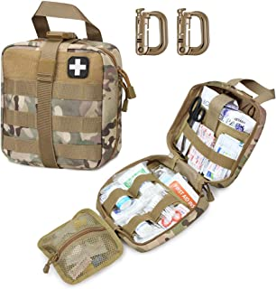 LIVANS Tactical First Aid Pouch, Molle EMT Pouches Rip-Away Military IFAK Medical Bag Outdoor Emergency Survival Kit Quick...