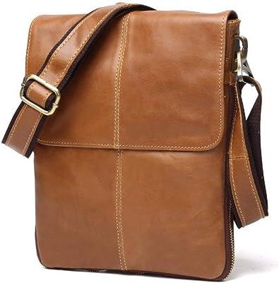 Luxury Brand Men Shoulder Bag Male Cow Leather Crossbody Vintage Design Menssenger Solid Soft Versatile Handbags