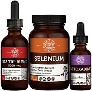 Global Healing Center Thyroid Health Kit with Iodine, Tri-Blend B12, Selenium - Energy, Focus, Metabolism