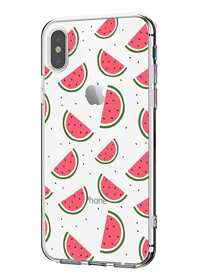 Matop Compatible/Replacement for iPhone XR Case Protective Soft TPU Bumper Shock Absorption Cover Protector Guitar Crystal Clear Anti-Scratch Slim Thin for iPhone XR (Watermelon)
