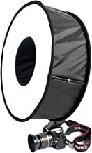 FOTOCREAT 18inch(45cm) Round Universal Collapsible Magnetic Ring Flash Diffuser Softbox for Macro and Portrait Photography