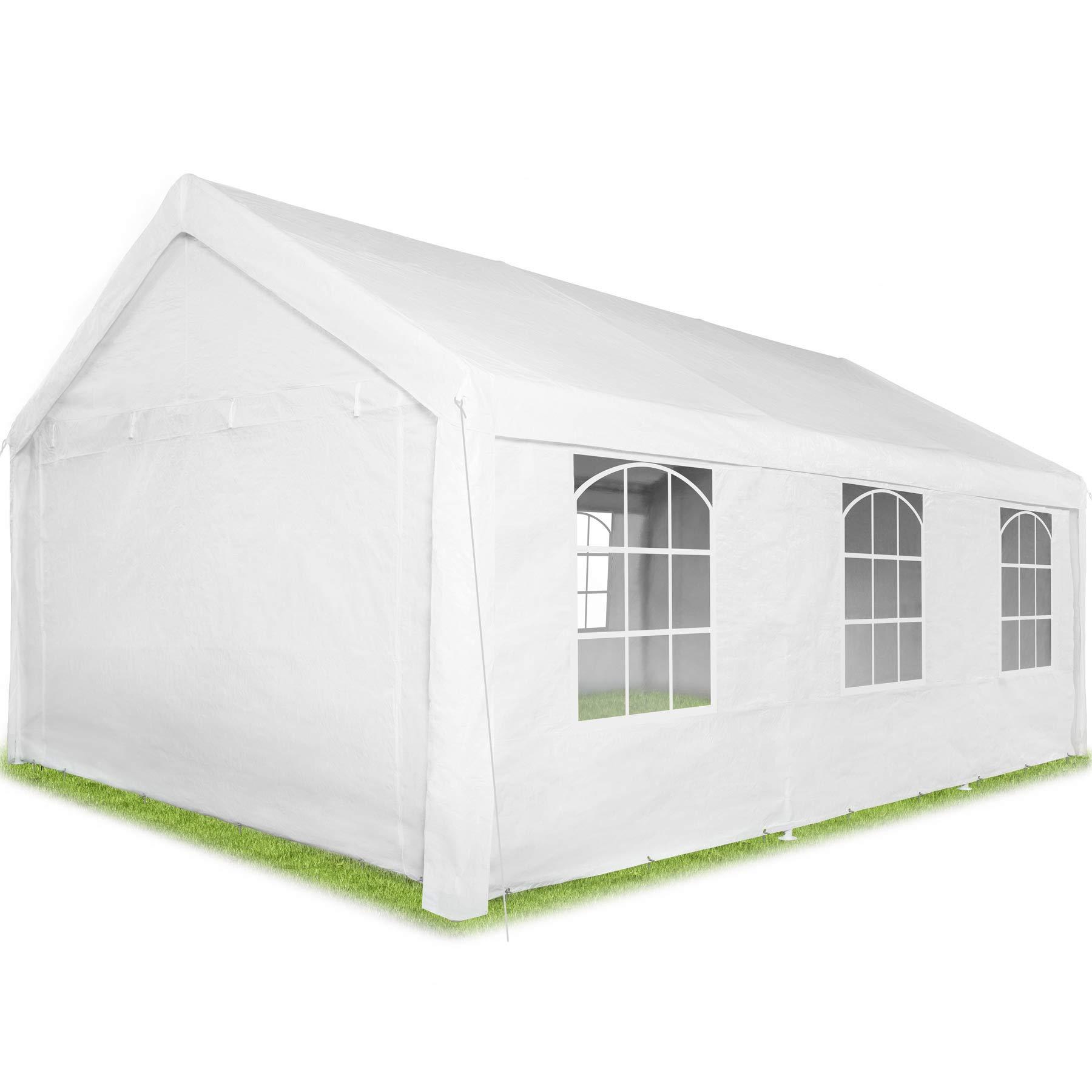 TecTake 403260 Carpa Pabellón de Jardín, 100% Impermeable, Resistente Rayos UV, Cuatro Paneles Laterales, 600x400x315 cm, Blanco: Amazon.es: Jardín