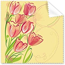 DIYthinker Hand Painted Tulip Flower Plant Illustration Glasses Cloth Cleaning Cloth Phone Screen Cleaner 5Pcs Gift