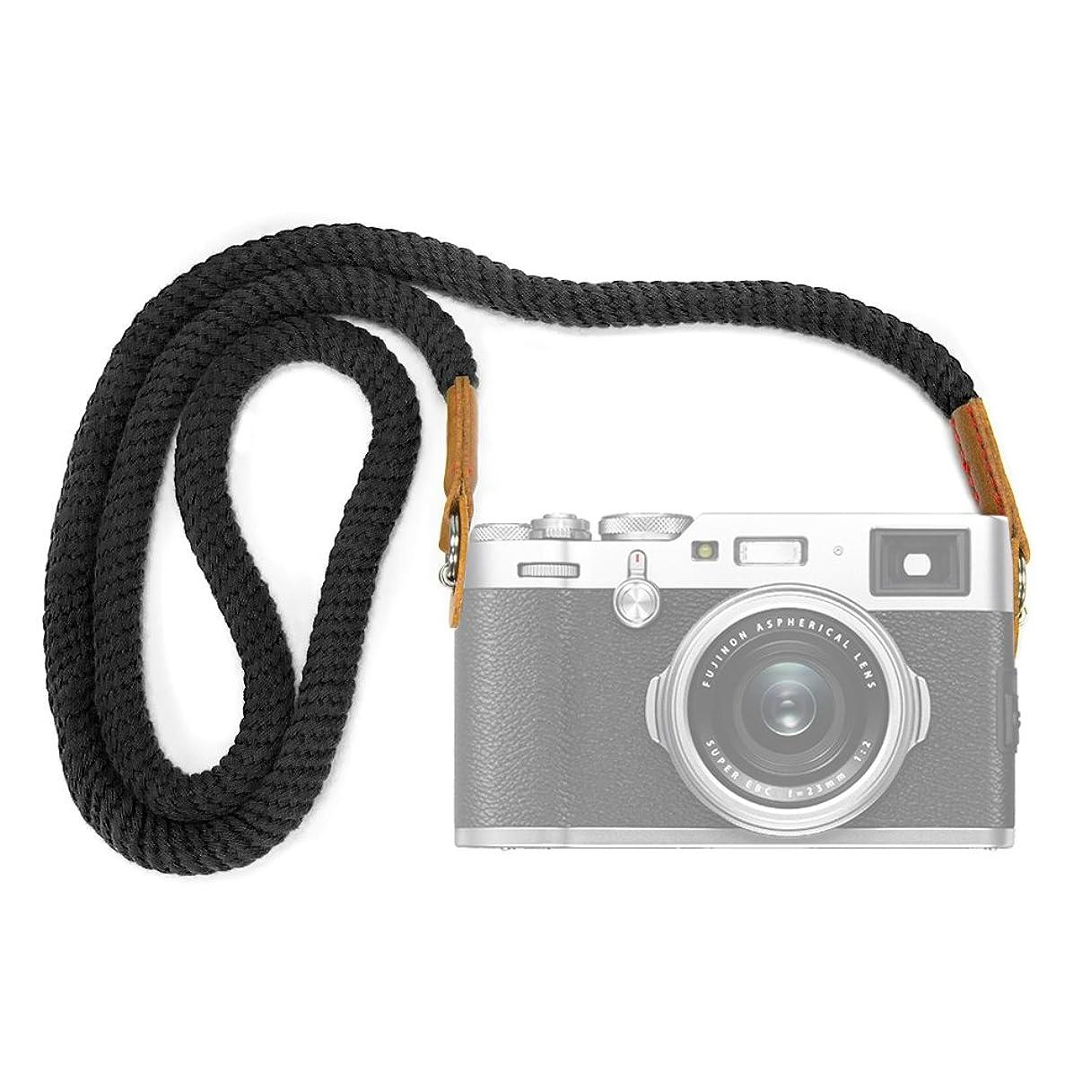 VKO Soft Cotton Camera Neck Strap, Shoulder Strap Compatible for Sony A6000 A6300 A6500 A6400 A5100 RXIR II RX10 IV X100F X-T30 X-T3 X-T20 X-T2 X100S X100T Camera Black