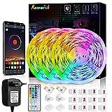 Tiras LED 10M, Romwish 5050 SMD RGB LEDs con Control Remoto de 44 Botones & Control Bluetooth, para la Habitación, Dormitorio, Fiestas, Bares
