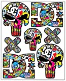 Biomar Labs® 7pcs Pegatinas Punisher Calavera DC Sticker Stickerbomb...