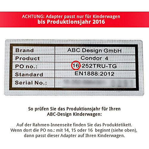 ABC Design 9126100 Maxi-Cosi Adattatore per Passeggini, Nero