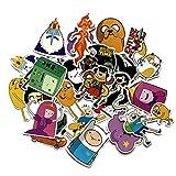 Hora de Aventura con Finn y Jake Time Pegatina Maleta Dibujos Animados Anime monopatín Coche eléctrico Impermeable PVC Pegatina 30 Uds
