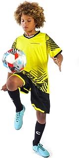 PAIRFORMANCE Boys' Soccer Jerseys Sports Team Training Uniform Age 6-12 Boys-Girls Youth Shirts and Shorts Set Indoor Soccer.