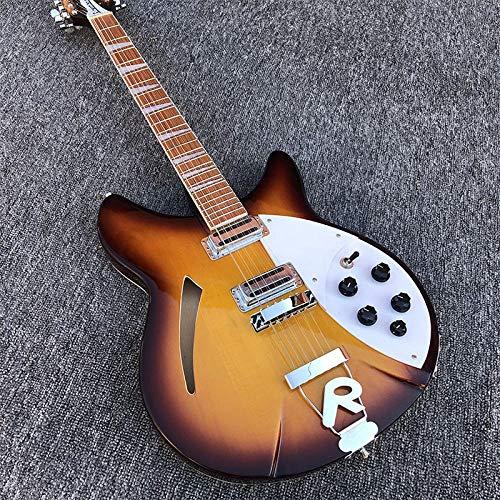 chushi 12 String E-Gitarre Mahagoni-Griffbrett Akustische Stahl-String-Gitarren Zzib (Color : Guitar, Size : 41 inches)