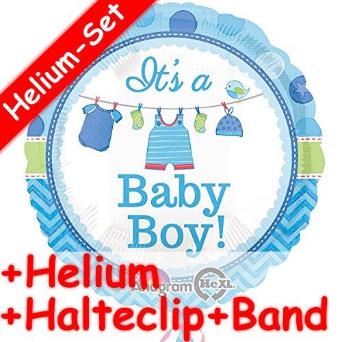 IT'S A Baby Boy Folieballonset, helium vulling, houder clip en band, voor een babyfeestje, voor de geboorte, jongen kinderen, verjaardag, folie, ballon, helium, decoratie, ballongas, motto