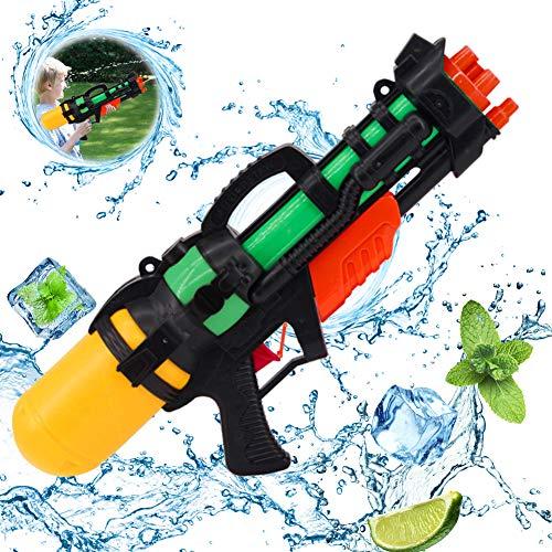 wasserpistole groß,wasserpistole mit großer reichweite,wasserpistole Spielzeug,wassergewehr für Erwachsene Kinder,Water Gun,Water Blaster,wasserpistole für Garten und Strand (Schwarz Gelb)