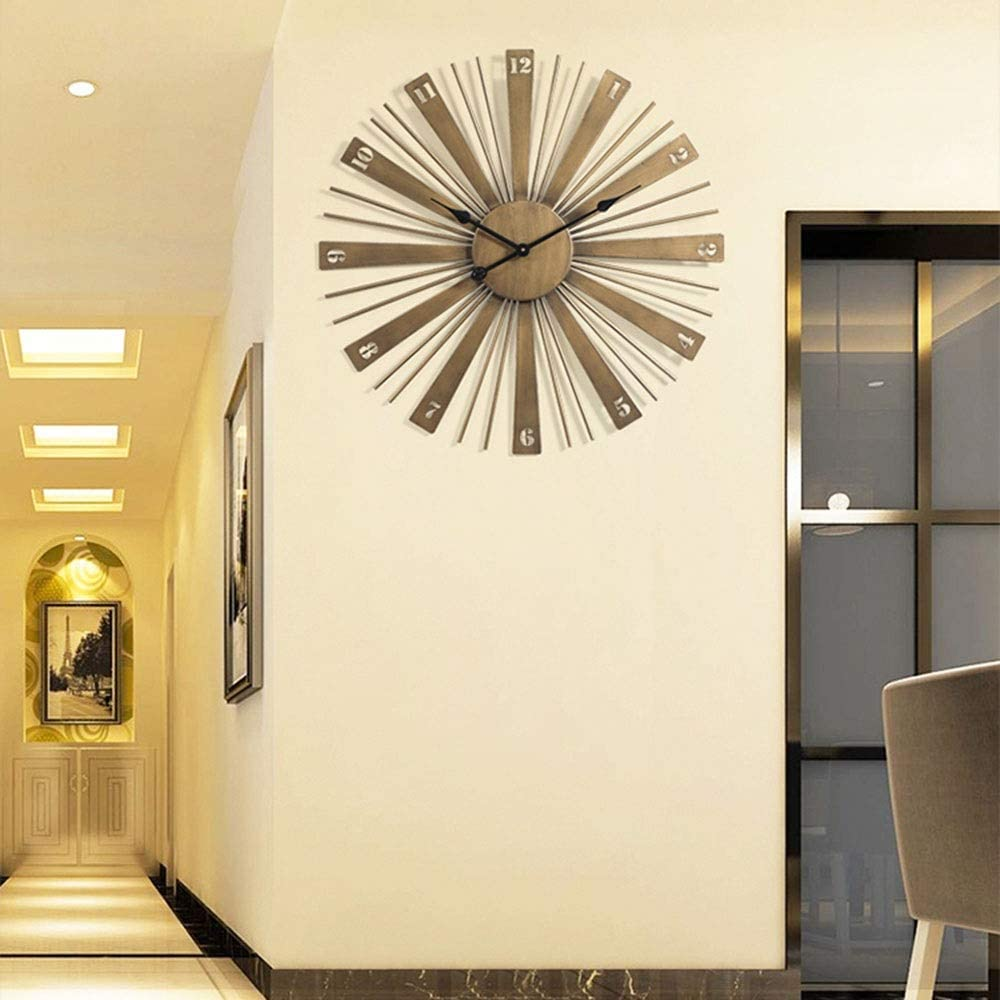Qingbaotong Wall Clock Nordic Brand Cheap Sale Venue Wrought Max 42% OFF Golden Ir Style