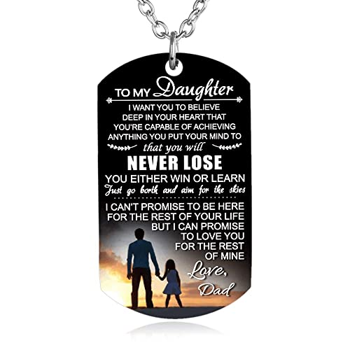 FAYERXL To My Son Daughter Gift Ideas From Dad Mom Colorful Dog Tag Necklace Men Boy