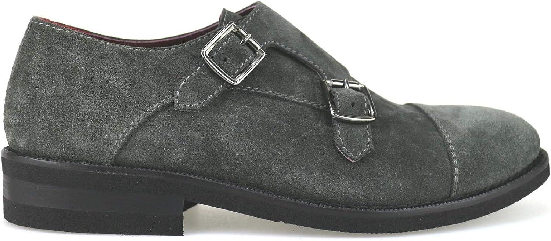 PLEASE WALK Oxfords-shoes Mens Suede Grey