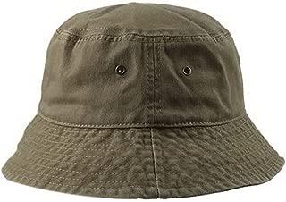 Unisex Short Brim Cotton Basin Hat Summer Visor Leisure Fisherman Hat, ArmyGreen