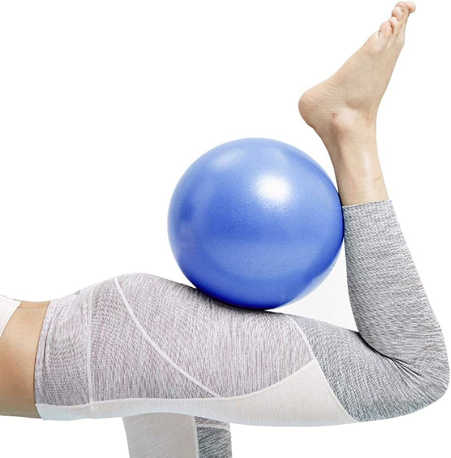 Mini Exercise Barre Ball, Gymnic Over Ball, Pilates Soft Ball for Core Training and Physical Therapy, Improves Balance (Home & Gym & Office) Mini Yoga Ball, Small, 9 Inches