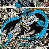 Batman Estampado en Lienzo « Burst» de DC Comics, Multicolor, 40 x 40cm