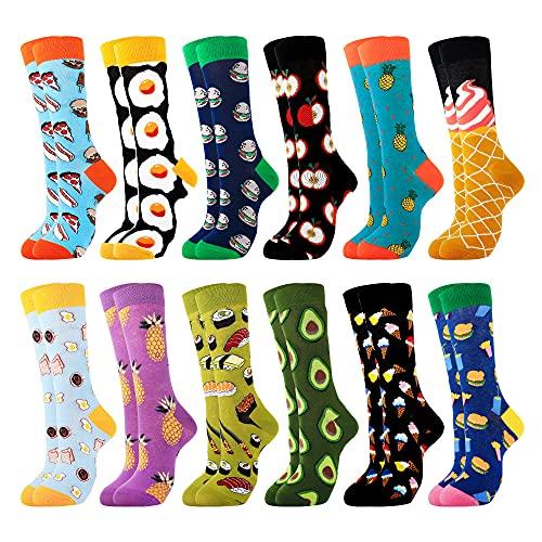 Belloxis Socken Damen 39-42 Lustige Bunte Kuschelsocken Personalisierte Geschenke (Bunte-A30, 12)