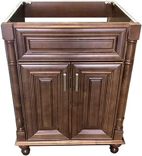 New Maple Walnut Single-sink Bathroom Vanity Base Cabinet 24