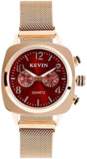 Ladies Watch Rose Gold Creative Watch with Stainless Steel for Women and Girls