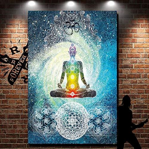 Bohemian Tapiz de 7 Chakras para Colgar en la Pared, Manta de Picnic, Toalla de Playa, Yoga, Playa, Alfombra, Multicolor, Colcha, Multicolor, 100x75cm