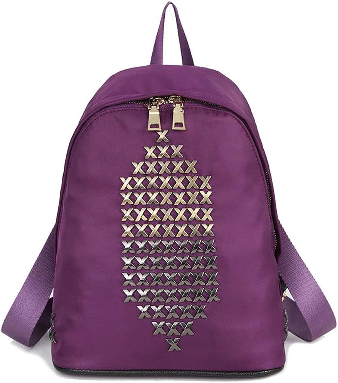 Rucksack Niet Rucksack Frauen Reisetasche Nylon Wasserdichte Tasche Schulter Diagonal Handtasche