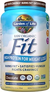 Garden of Life Raw Organic Fit Powder, Chocolate - High Protein for Weight Loss (28g) plus Fiber, Probiotics & Svetol, Org...