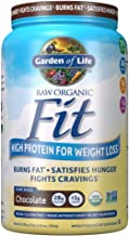 Garden of Life Organic Meal Replacement - Raw Organic Fit Powder, Chocolate - High Protein for Weight Loss (28g) plus Fiber, Probiotics & Svetol, Organic & Non-GMO Vegan Nutritional Shake, 20 Servings