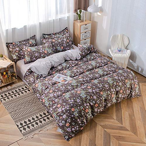 Textiles para El Hogar Súper Suaves Y Cómodos para El Dormitorio, Cama Doble Y Cama Doble Súper Individuales, Funda Nórdica Floral Pequeña Simple Y Moderna