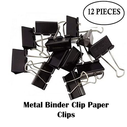 Shuban 12 Pieces 2-inch/51 mm Large Paper Clips for Notes Letter, Binder Clamps