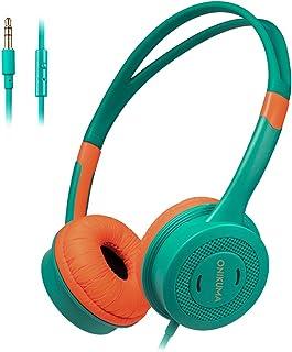 Goolsky M100 Kids Headphones 3.5mm Wired On Ear Headset Children Earphone Adjustable Headband w/Microphone 85dB Limited Vo...