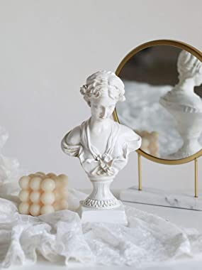 XinTX 12 Inch Artemis Diana The Huntress Bust Statue Home Decor,Crafts Sculpture Resin Figurine for Sketch Practice (Venus)