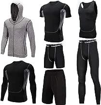 Trainingskleidung für Herren Outwear Compression Enge Hose 3er Pack Tshirt 2er Pack Shorts Herren 7 Stück Sport passt Fitness Laufen athletische Trainingsanzüge mit für Radfahren Laufen Gym Fitness