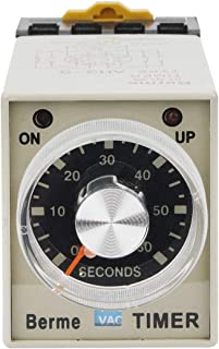 Electrical Buddy 60s Time Range 8 Terminals Adjustable Delay Timer Time Relay AH3 3 AC110V