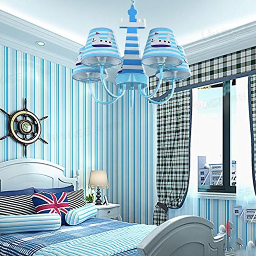 Lily's-uk Love Lustre pour chambre d 'enfant méditerranéenne Euro - Style Creative Cartoon Étude Éclairage Boy Girl Bedroom Lamp