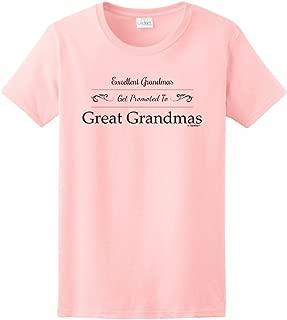 Excellent Grandmas Get Promoted to Great Grandmas Ladies T-Shirt