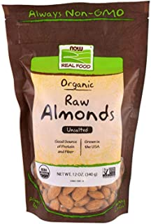 Now Foods Real Food Organic Raw Almonds Unsalted 12 oz 340 g