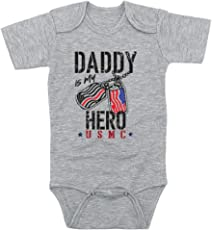 TeeNow - Daddy Is My Hero (Custom For All Branches) - US Military Inspired Baby Infant Onesie / Bodysuit - Boy / Girl
